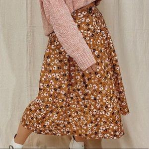 WhoWhatWear   linen floral midi skirt